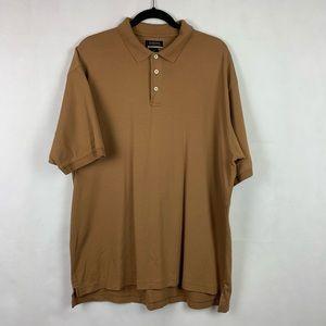 Cambridge Classics Polo Shirt Size XL Camel Tan
